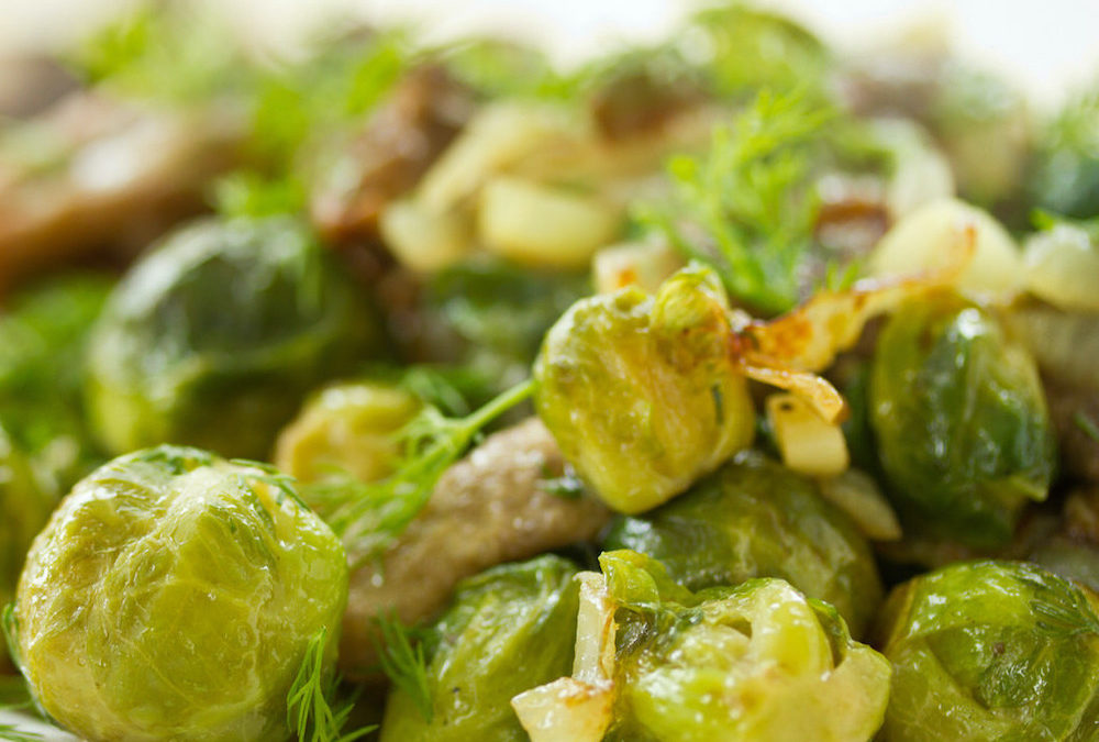 Lime Roasted Brussels Sprouts with Pumpkin Seeds