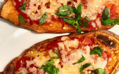 Sweet potato toast pizza