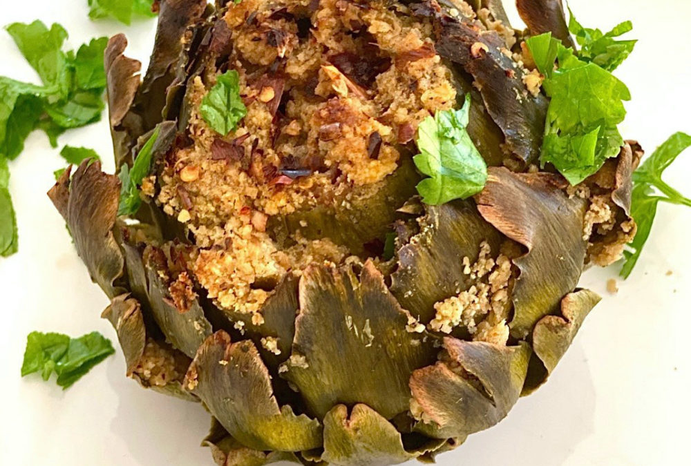 Healthy Stuffed Artichoke